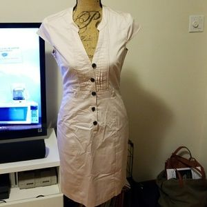 Pretty light pink fitted cap sleeve dress size 6