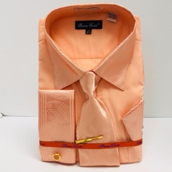 df1f7230e5 Bruno Conte Shirts | Mens Dress Shirt Peach Combo Pack | Poshmark