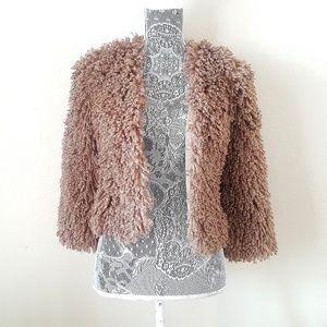 Plastic Island Fluffy Furry Jacket