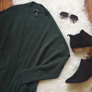 Forest Green Cardigan
