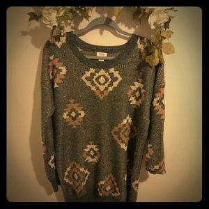 Mossimo long pullover size M shimmer