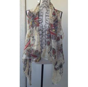 Accents by Lavello // Chiffon Convertable Vest