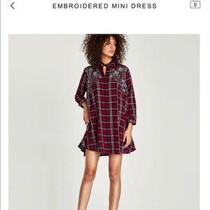 Zara Flannel Mini Dress