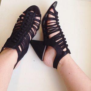 Vince Camuto Black Strappy Heels