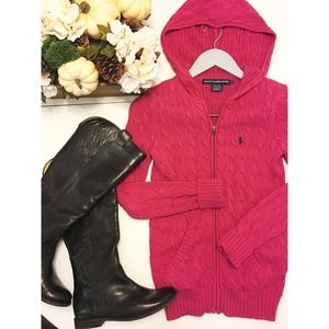 Ralph Lauren Sport Pink Zip Up Sweater