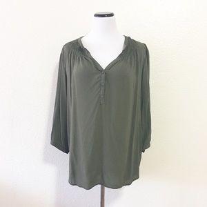 Old navy dark green blouse size XL