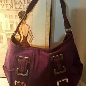 Stunning Tignanello Suede Shoulder Bag