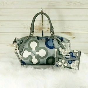 Coach Madison Sophia Satchel and Wallet Set.