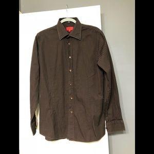 Hugo Boss designer L brown dress shirt