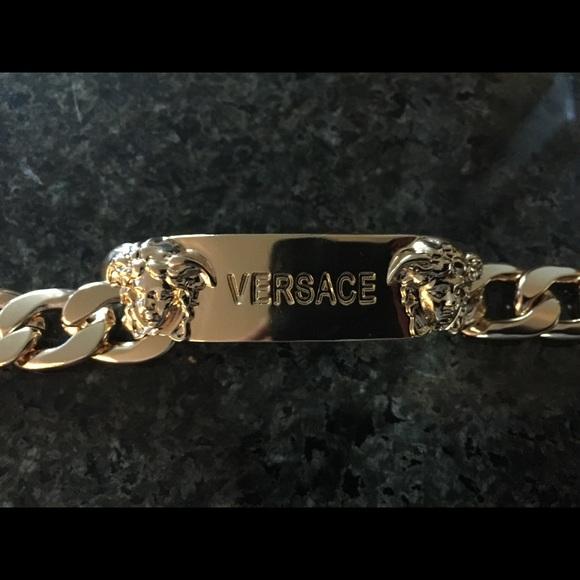 18k gold versace bracelet