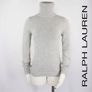 Ralph Lauren | Gray Chunky Turtleneck Sweater 897