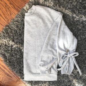 Tops - | nwot • cozy bow sleeve sweatshirt |