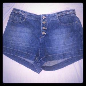 Free People Braided Denim Shorts size 29