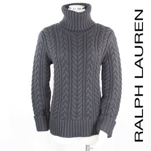 Ralph Lauren | Cashmere Cable Knit Turtleneck 895