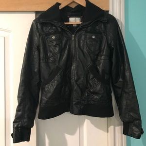 Jackets & Blazers - Faux leather jacketed