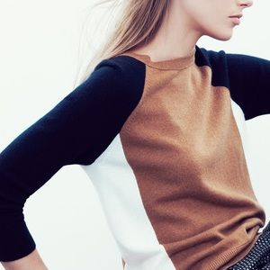 Collection cashmere colorblock sweater