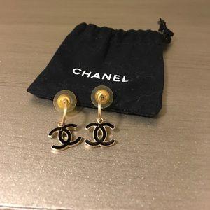 Authentic Chanel CC Dangle Earrings
