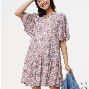 loft flowerbud button dress