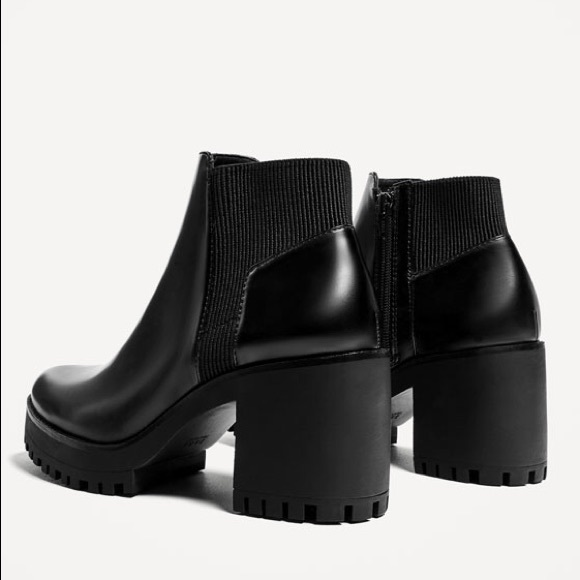 5752589f1b4 Zara Track Sole Heeled Ankle Boots. M_59ebd65aa88e7d7f4d05bb9c
