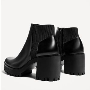 Zara Track Sole Heeled Ankle Boots