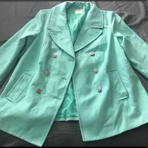 Plus Size Tiffany Colored Teal Peacoat