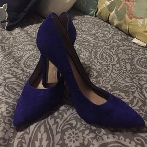 Royal blue Vince Camuto suede and leather pump