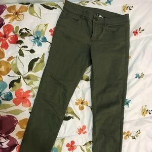 H&M Divided green skinny pants