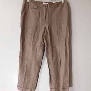 Loft Brown Crop Pants Sz 6 NWT