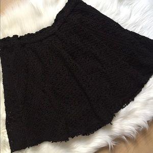Free People Beach Black Crochet Circle Skirt M