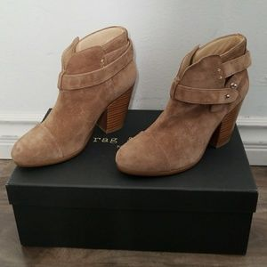 Rag & Bone Harrow Suede Camel boot boots 7.5 NEW