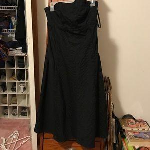 Black tube Dress - side zip - NWT