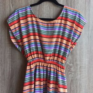 Francesca's Needle & Thread Pop Art Striped Dress