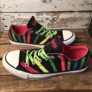 Neon Striped Converse