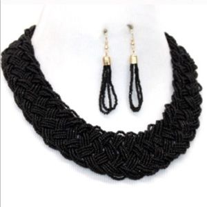 TODAY ONLY Black necklace bead set