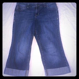 """Lane Bryant Capri Cropped Jeans 16 Tall 38""""X21.5"""""""