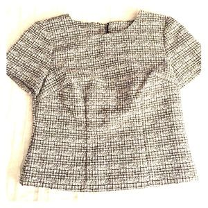 Never worn. Cropped woven top