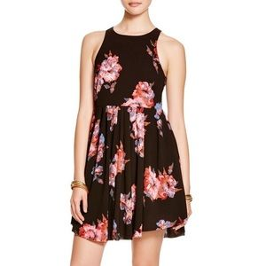 Free People Flutterby Floral Dress Twilight Combo