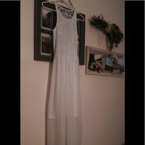 H&M Sheer White Dress