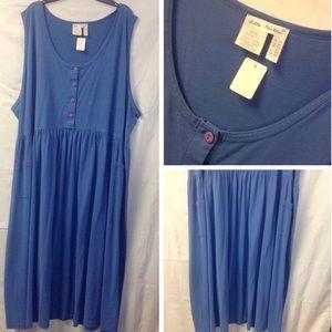 Ulla Popken cotton dress w/pockets. Size 5X