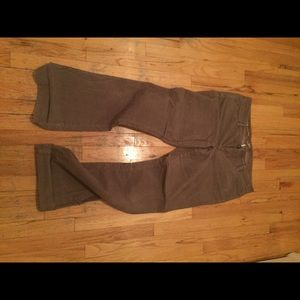 Loft Gray Boot Cut Corduroys