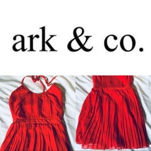 🦑 Ark & Co Ruffled Red Dress (NWOT)