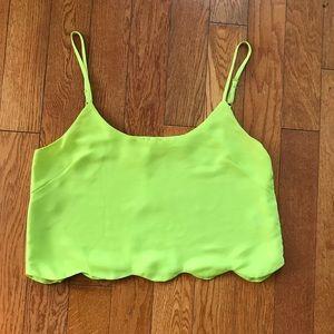 La Hearts Lime Green Crop Top