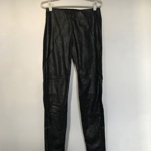 H&M Faux Leather Pants with ankle zipper