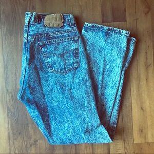 Vintage Levi High Waist Acid Wash Pants