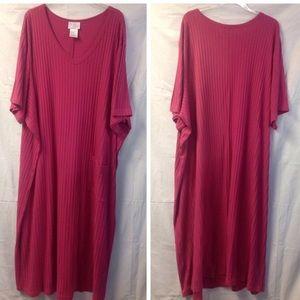 Ulla Popken ribbed t-shirt dress w/pocket. Size 5X