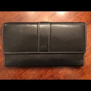 Coach leather wallet, black
