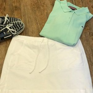Gap sweatshirt material drawstring skirt