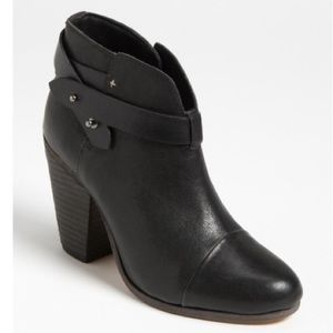 Rag & Bone Harrow Black Leather Booties