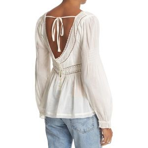 Free People Strangers in Love Top Ivory Small