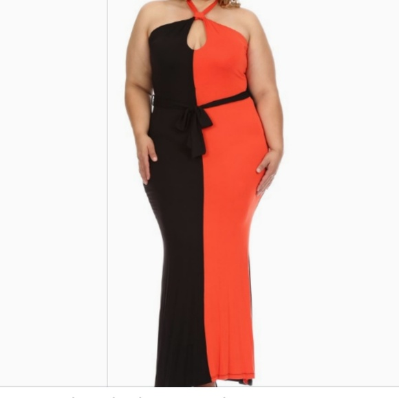 Red and black dress Plus Size Boutique